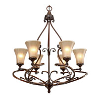 Golden Lighting Loretto 6 Light Chandelier in Russet Bronze 4002-6-RSB