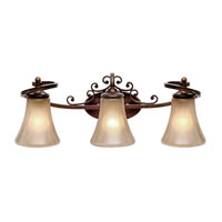 Loretto 3 Light 25 inch Russet Bronze Bath Vanity Wall Light