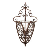 Loretto 6 Light 23 inch Russet Bronze Caged Foyer Ceiling Light, 2 Tier