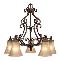 Golden Lighting Loretto 5 Light Mini Chandelier in Russet Bronze 4002-D5-RSB