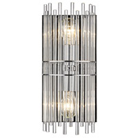 Golden Lighting 4015-BA1-CH Luciano 2 Light 7 inch Chrome Bath Vanity Wall Light