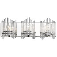 Luciano 3 Light 25 inch Chrome Bath Vanity Wall Light