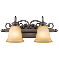 Golden Lighting Belle Meade 2 Light Bath Vanity in Rubbed Bronze 4074-2-RBZ