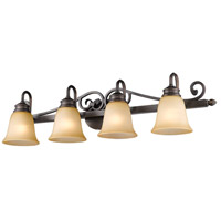 Golden Lighting 4074-4-RBZ Belle Meade 4 Light 37 inch Rubbed Bronze Bath Vanity Wall Light