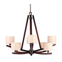 Golden Lighting Geller 8 Light Chandelier in Mahogany Wood 4090-8-MW photo thumbnail