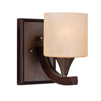 Golden Lighting Geller 1 Light Sconce in Mahogany Wood 4090-BA1-MW photo thumbnail