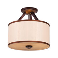 Golden Lighting Geller 3 Light Convertible Semi-Flush Mount in Mahogany Wood 4090-SF-MW alternative photo thumbnail