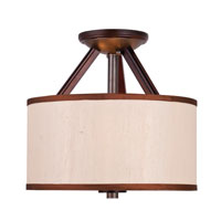 Golden Lighting Geller 3 Light Convertible Semi-Flush Mount in Mahogany Wood 4090-SF-MW photo thumbnail