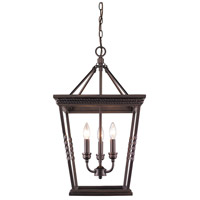 Davenport 3 Light 15 inch Etruscan Bronze Foyer Pendant Ceiling Light