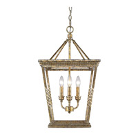 Davenport 3 Light 15 inch Luxe Gold Foyer Pendant Ceiling Light