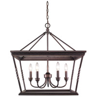 Davenport 5 Light 24 inch Etruscan Bronze Chandelier Ceiling Light