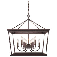 Davenport 9 Light 28 inch Etruscan Bronze Foyer Chandelier Ceiling Light, 2 Tier