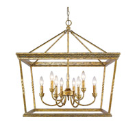 Davenport 9 Light 28 inch Luxe Gold Foyer Chandelier Ceiling Light, 2 Tier