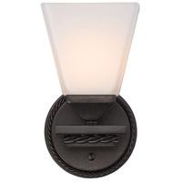 Golden Lighting 4214-BA1-EB-OP Davenport 1 Light 5 inch Etruscan Bronze Bath Fixture Wall Light