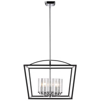 Golden Lighting Mercer 5 Light Chandelier in Black 4309-5-BLK-SD