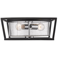 Mercer 2 Light 15 inch Black Flush Mount Ceiling Light