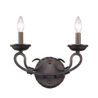 Golden Lighting Navarro 2 Light Wall Sconce in Aged Bronze 4414-2W-ABZ