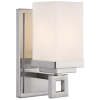 Golden Lighting Nelio 1 Light Wall Sconce in Pewter with Cased Opal Glass 4444-BA1-PW
