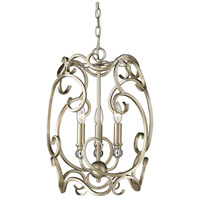 Golden Lighting Colette 3 Light Pendant in White Gold 4616-3P-WG