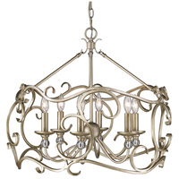 Colette 6 Light 26 inch White Gold Chandelier Ceiling Light