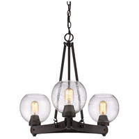 Galveston 3 Light 24 inch Rubbed Bronze Chandelier Ceiling Light