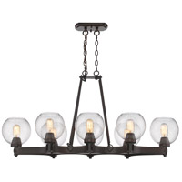 Galveston 8 Light 42 inch Rubbed Bronze Linear Pendant Ceiling Light