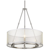 Alyssa 3 Light 20 inch Pewter Mini Chandelier Ceiling Light, Convertible to Semi-Flush