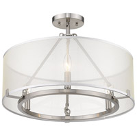 Golden Lighting 5019-3SF-PW Alyssa 3 Light 20 inch Pewter Semi-Flushmount Ceiling Light