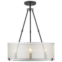 Golden Lighting 5019-3SF-XL-BLK Alyssa 3 Light 20 inch Matte Black Semi-flush - Damp Ceiling Light