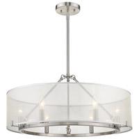 Golden Lighting 5019-6-M PW Alyssa 6 Light 26 inch Pewter Chandelier Ceiling Light