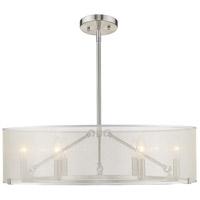 Golden Lighting 5019-6-S PW Alyssa 6 Light 26 inch Pewter Chandelier Ceiling Light
