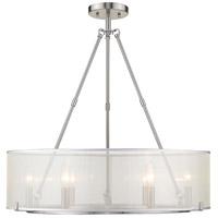 Golden Lighting 5019-6SF-XL PW Alyssa 6 Light 26 inch Pewter Semi-Flush Ceiling Light Damp