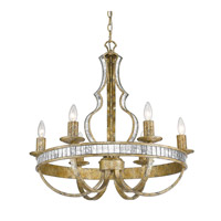 Hayworth 6 Light 26 inch Luxe Gold Chandelier Ceiling Light