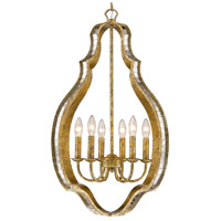 Hayworth 6 Light 21 inch Luxe Gold Pendant Ceiling Light