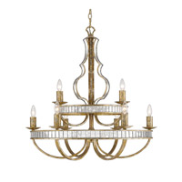 Hayworth 9 Light 32 inch Luxe Gold Chandelier Ceiling Light, 2 Tier
