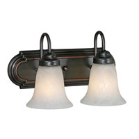 Golden Lighting Brookfield 2 Light Bath Vanity in Oil Rubbed Bronze 5221-2-ORB-MBL