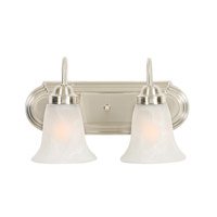 Brookfield 2 Light 14 inch Pewter Bath Vanity Wall Light in Marbled Glass