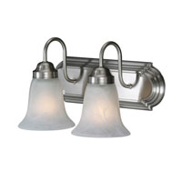 Golden Lighting Brookfield 2 Light Bath Vanity in Pewter 5221-2-PW-MBL