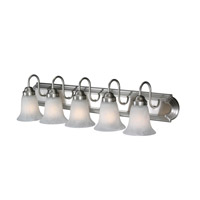 Golden Lighting Brookfield 5 Light Bath Vanity in Pewter 5221-5-PW-MBL