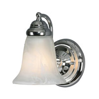 Golden Lighting Centennial 1 Light Wall Sconce in Chrome 5222-1-CH-MBL