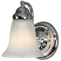 Centennial 1 Light 6 inch Chrome Wall Sconce Wall Light in Marbled Glass