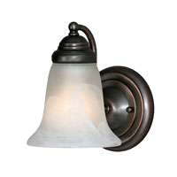 Golden Lighting Centennial 1 Light Wall Sconce in Oil Rubbed Bronze 5222-1-ORB-MBL