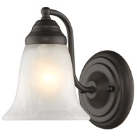 Centennial 1 Light 6 inch Rubbed Bronze Wall Sconce Wall Light in Marbled Glass