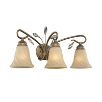 Golden Lighting Beau Jardin 3 Light Bath Fixture in Rose Gold with Swirled Mist Glass 5400-BA3-RG alternative photo thumbnail