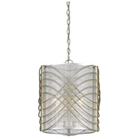 Golden Lighting Zara 3 Light Pendant in White Gold 5516-3P-WG-SHR