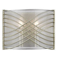 Zara 2 Light 10 inch White Gold Wall Sconce Wall Light