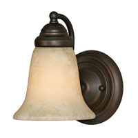 Golden Lighting Centennial 1 Light Wall Sconce in Rubbed Bronze 5222-1-RBZ-TEA