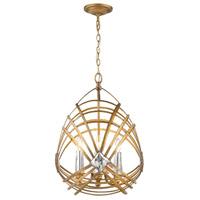Golden Lighting 5717-4P-RGD Signet 4 Light 18 inch Royal Gold Pendant Ceiling Light