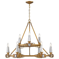 Golden Lighting 5717-9 RGD Signet 9 Light 37 inch Royal Gold Chandelier Ceiling Light Large