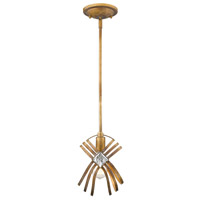 Signet 1 Light 7 inch Royal Gold Mini Pendant Ceiling Light